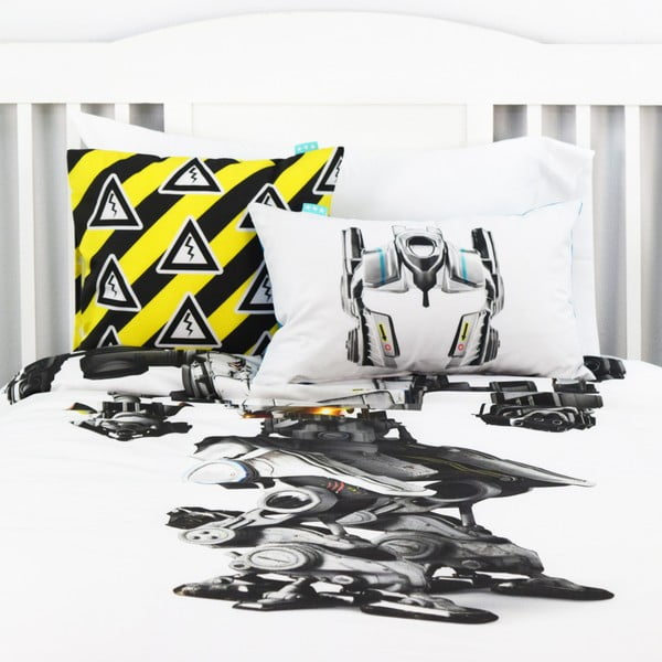 Obojstranná obliečka na vankúš Cyborg, 50x30 cm