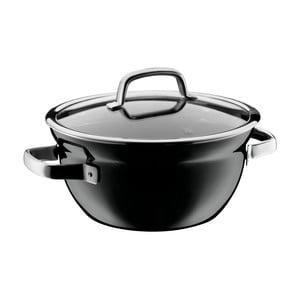 Čierna misa na varenie s pokrievkou WMF Fusiontec, ø 24 cm