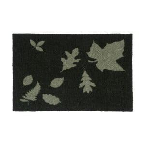 Tmavozelená rohožka Tica Copenhagen Mega Leafes, 40 x 60 cm