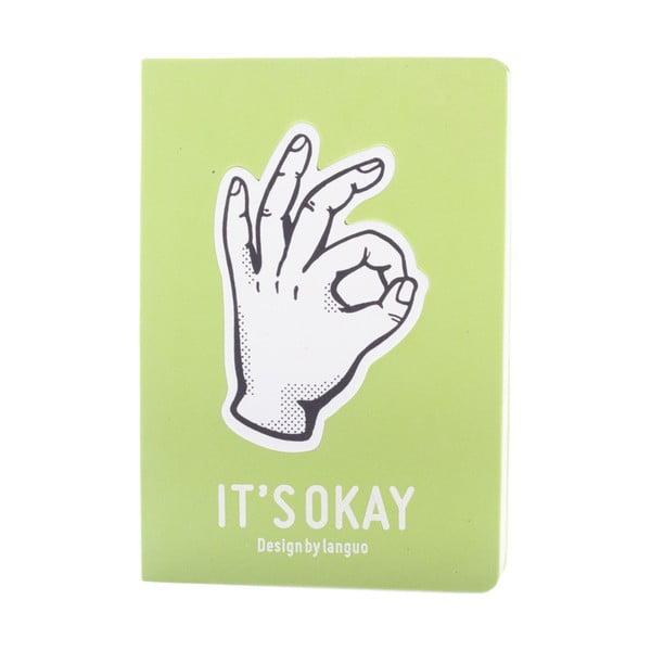 Zápisník Fingers, zelený