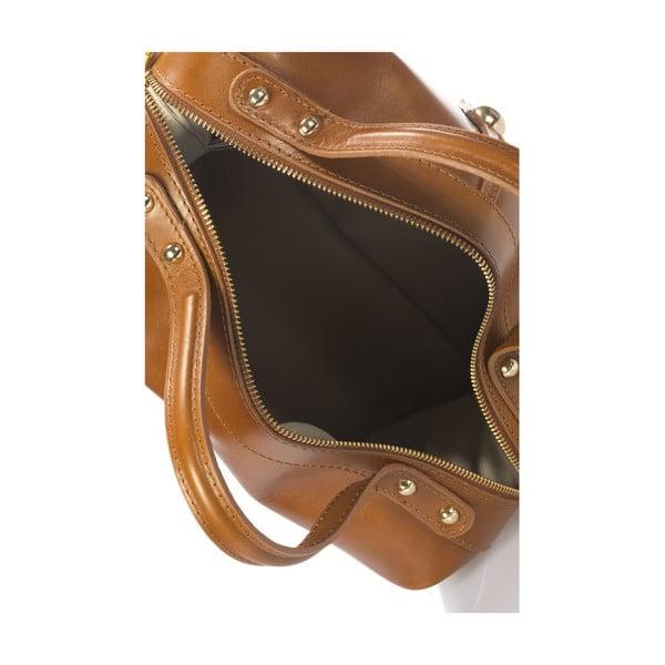 Kožená kabelka Italia 355 Cognac