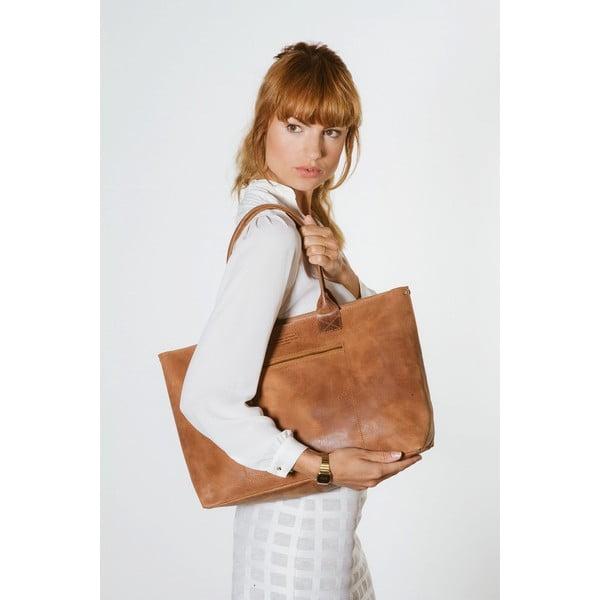 Hnedá kožená vintage kabelka O My Bag Madam Rose