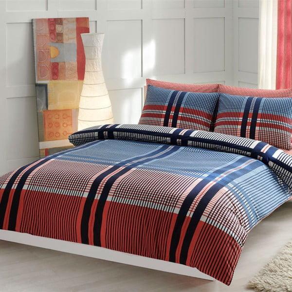 Obliečky s plachtou Blue and Red Lines, 200x220 cm