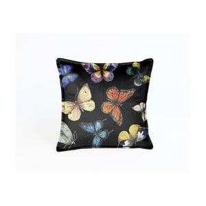 Obojstranný zamatový vankúš Surdic Butterfly Night, 45×45 cm