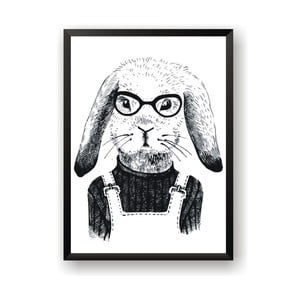 Plagát Nord & Co Hipster Rabbit, 21 x 29 cm