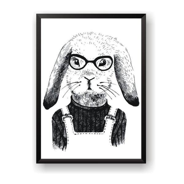 Plagát Nord & Co Hipster Rabbit, 30 x 40 cm