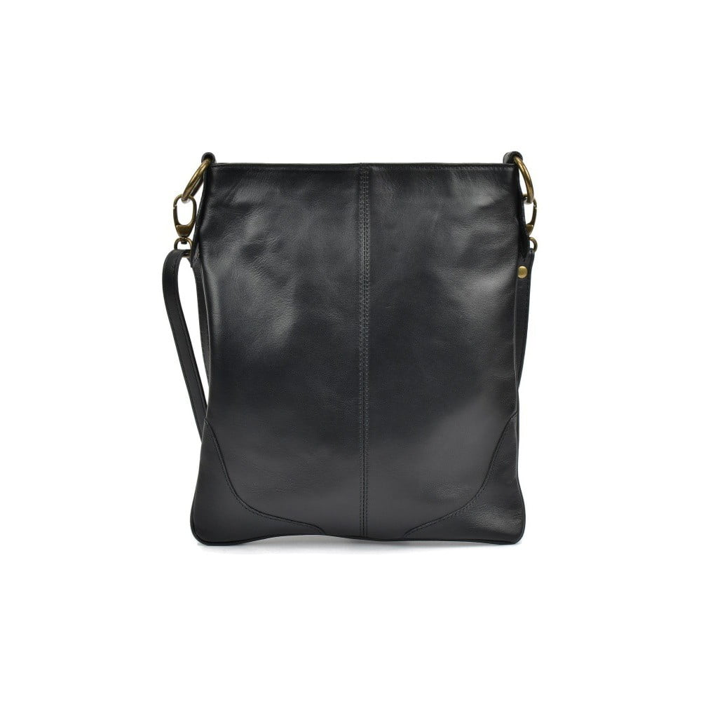 Čierna kožená kabelka Mangotti Bags Luro