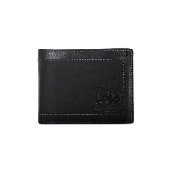 Kožená peňaženka Lois Black, 11x8,5 cm