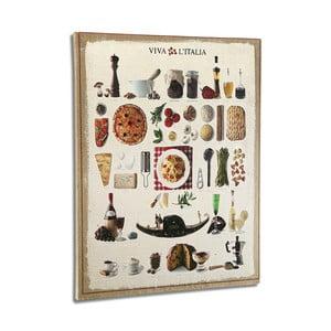 Drevený obraz Versa Italian Kitchen, 50 x 45 cm