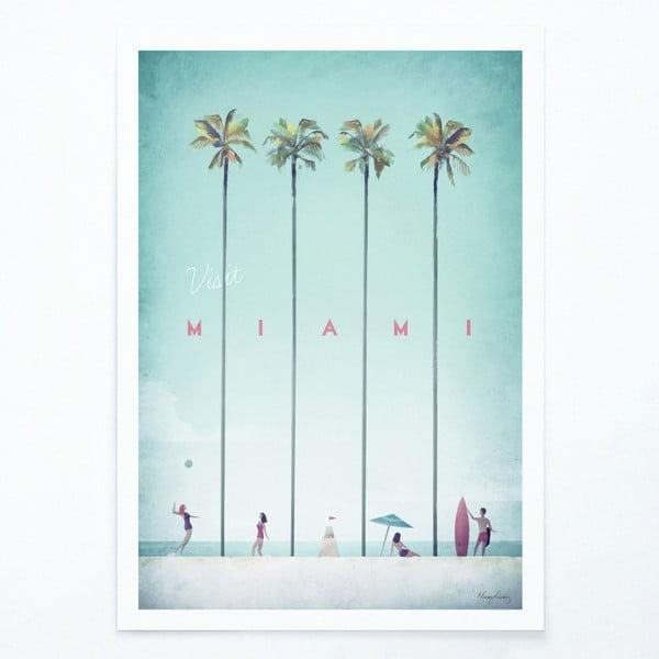 Plagát Travelposter Miami, A3