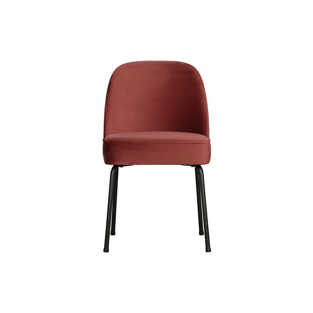 Červená jedálenská stolička BePureHome Vogue Chestnut
