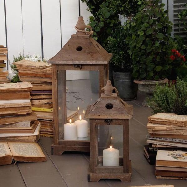 Sada 2 lampášov Antique Wood