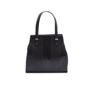 Kožená kabelka Luisa Vannini 8028, čierna