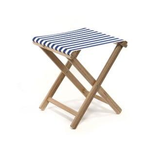 Skladacia stolička Beach, modré prúžky