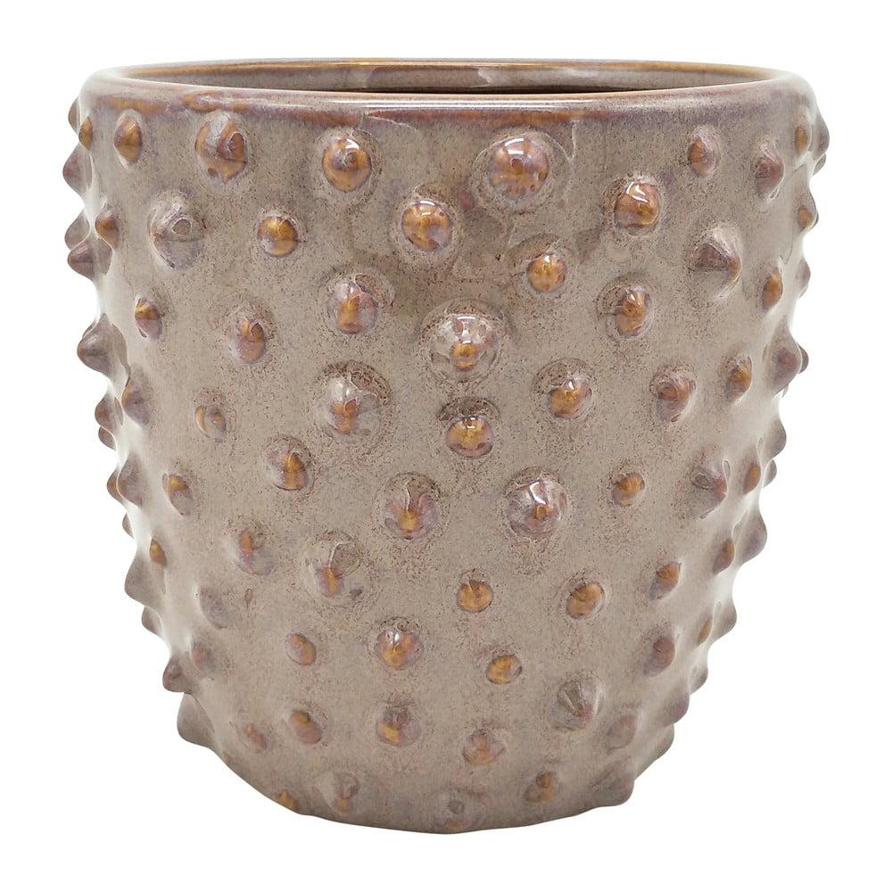 Sivoružový keramický kvetináč PT LIVING Spotted, ø 14 cm