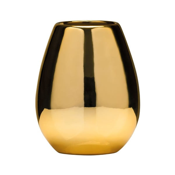 Pohárik zlatej farby na zubné kefky z dolomitu Premier Housewares Magpie