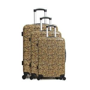 Sada 3 hnedých cestovných kufrov na kolieskach INFINITIF