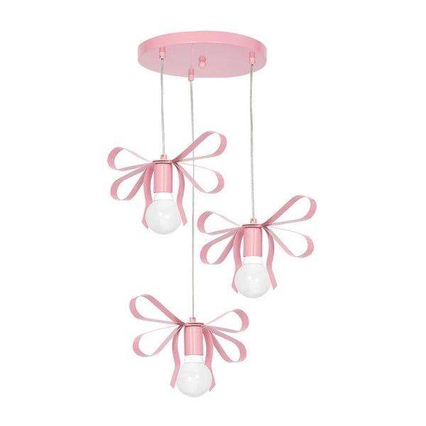 Ružové závesné svietidlo Emma Tres