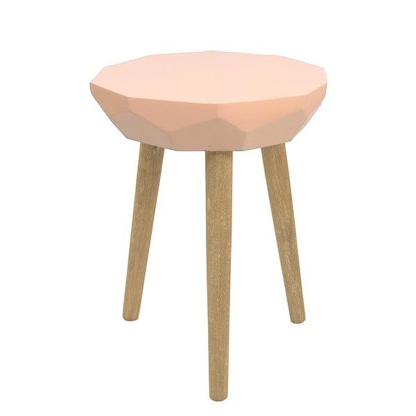 Ružový stolík HF Living Diamond