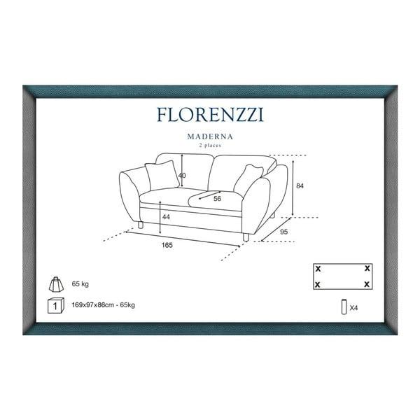 Béžová pohovka pre dvoch Florenzzi Maderna