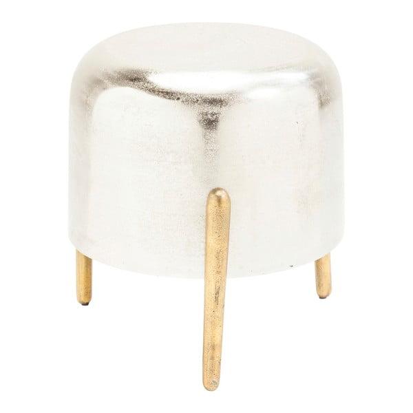 Stolička v striebornej farbe Kare Design Lumpy