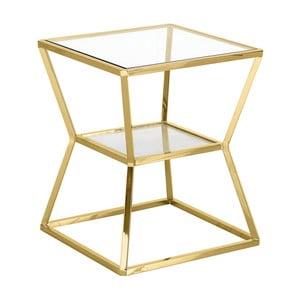 Odkladací stolík v zlatej farbe Artelore Ascari