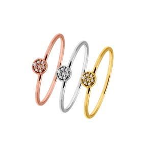 Sada 3 prsteňov so Swarovski  krištáľmi GemSeller Nivalis, veľ. 52