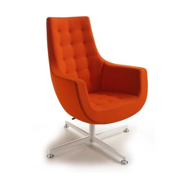 Oranžové kreslo Zago Bureau