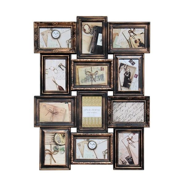Fotorámik na 12 fotiek Antic, medený