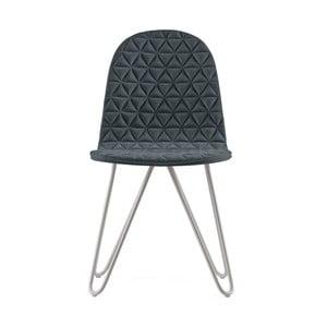 Tmavosivá stolička s kovovými nohami IKER Mannequin X Triangle