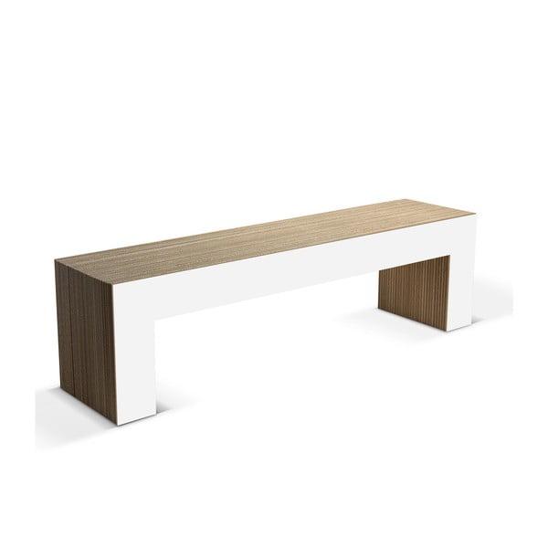 Kartónová lavica Panca White, 160 cm