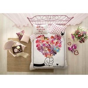 Obliečky s plachtou na dvojlôžko Minnie Flowers, 200×220 cm