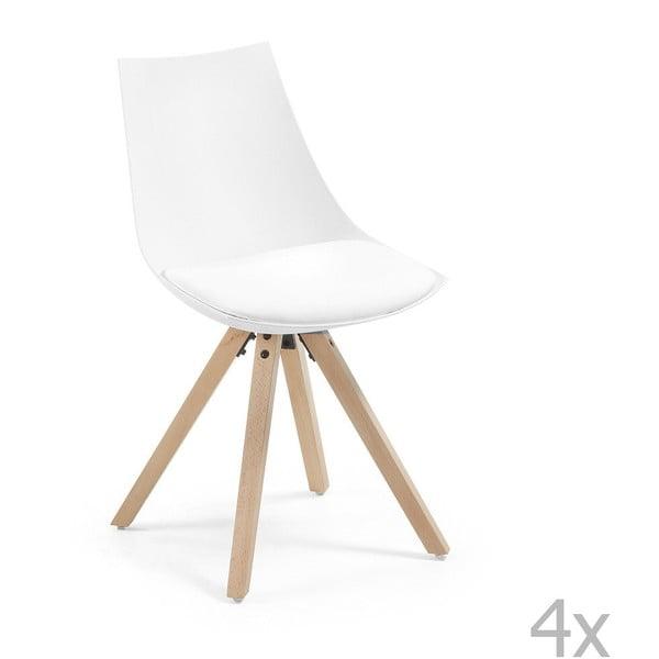 Sada 4 bielych stoličiek La Forma Armony