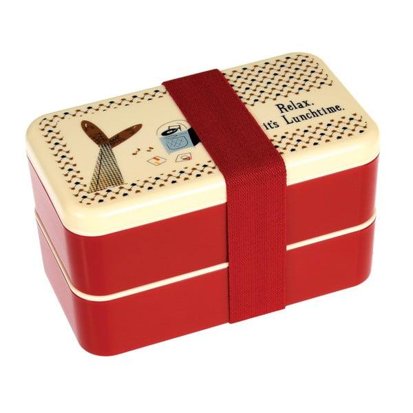 Obedový box s príborom a gumičkou Rex London Modern Man