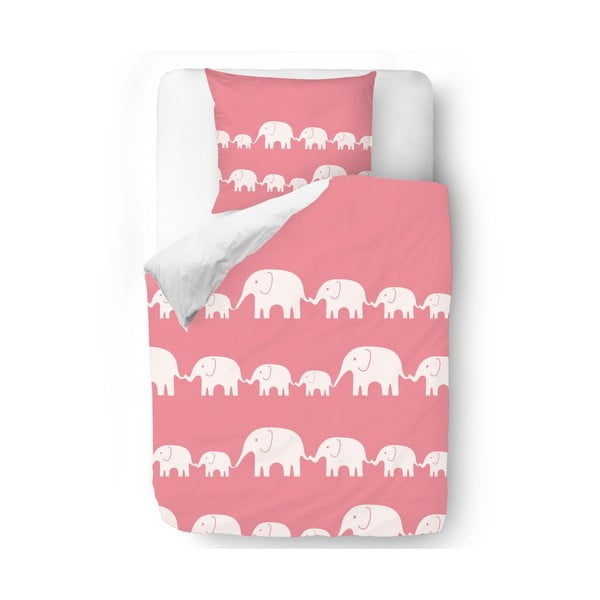 Obliečky Pink Elephants, 140x200 cm