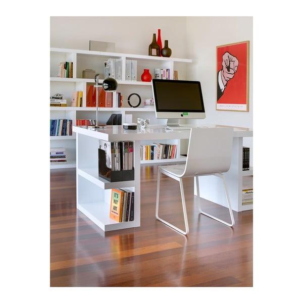 Biely pracovný stôl TemaHome Multi, dĺžka 160 cm