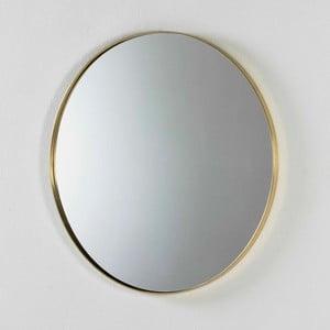 Nástenné zrkadlo s rámom v zlatej farbe Thai Natura, ⌀80 cm
