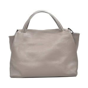Sivá kožená kabelka Carla Ferreri Celha Mento