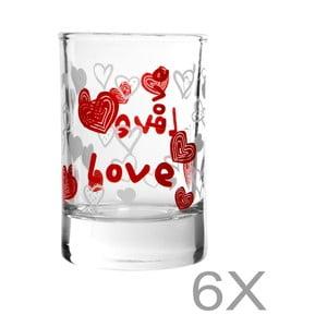 Sada 6 pohárov Mezzo Pagna, 57 ml