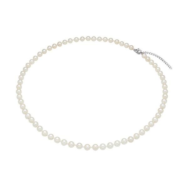 Perlový náhrdelník Muschel, biele perly 6 mm, dĺžka 50 cm