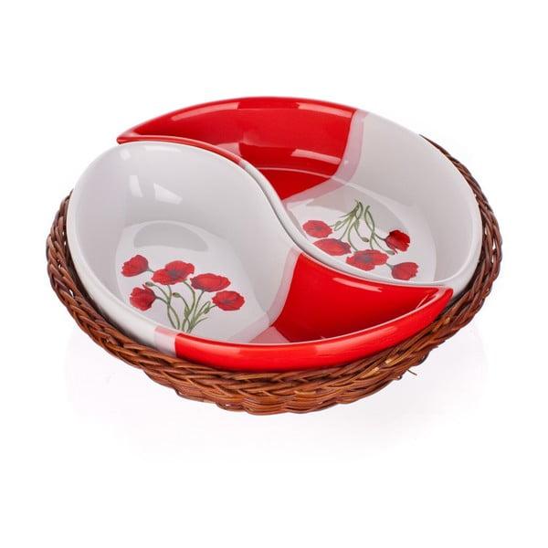 Misa v košíku Banquet Red Poppy, 20,5 cm