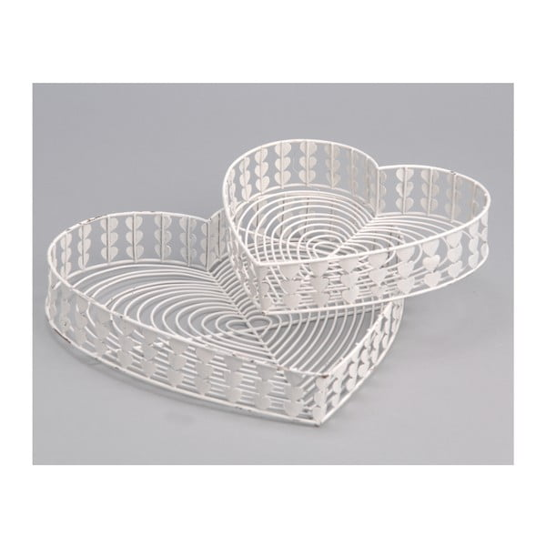 Sada 2 podnosov White Baskets