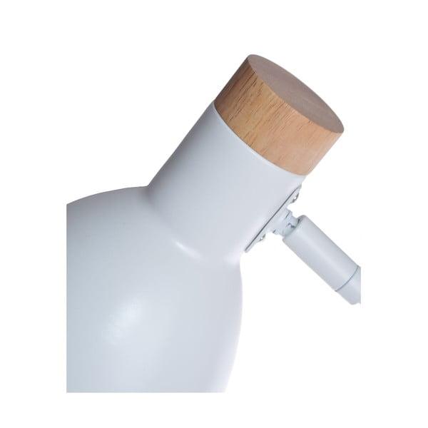 Biela stolová lampa Ewax Woody