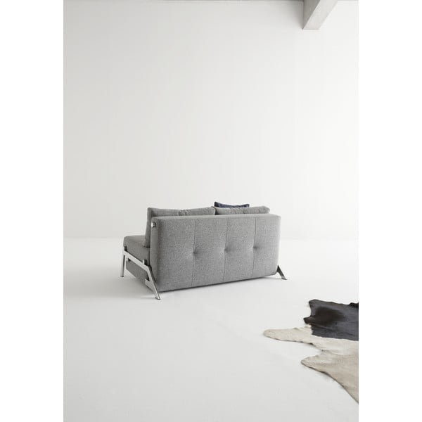 Sivá rozkladacia pohovka Innovation Cubed Deluxe