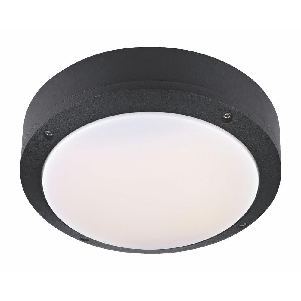 Čierne stropné svietidlo Markslöjd Luna, ø 22 cm
