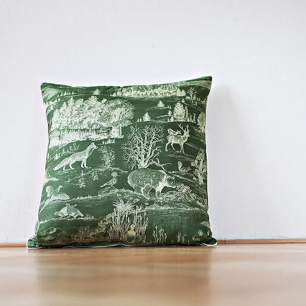 Vankúš s výplňou Dark Green Forest, 50x50 cm