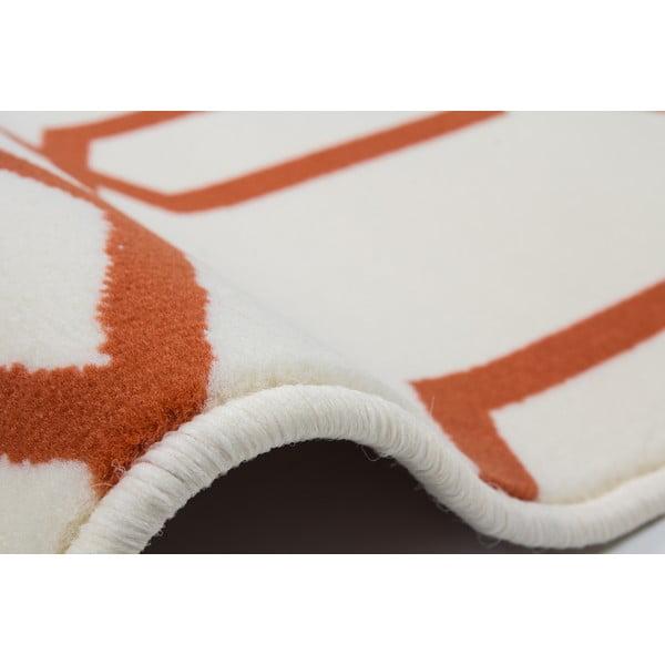 Oranžovo-sivý koberec Kayoom Stella 400 Orange, 200x290cm