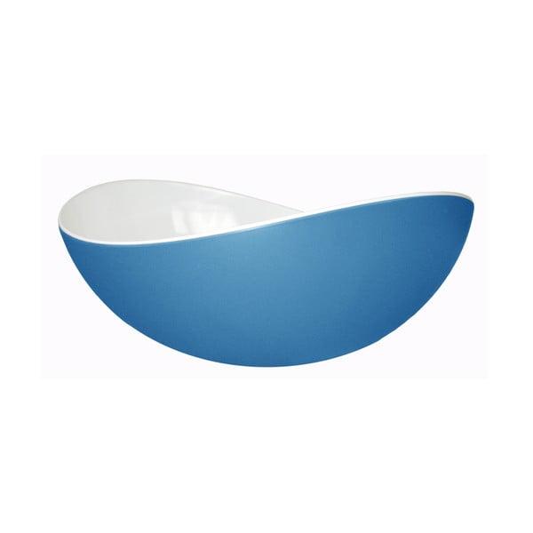 Modrá šalátová misa Entity, 23cm
