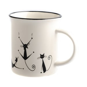 Porcelánový hrnček Dakls Cats Nero, 310 ml