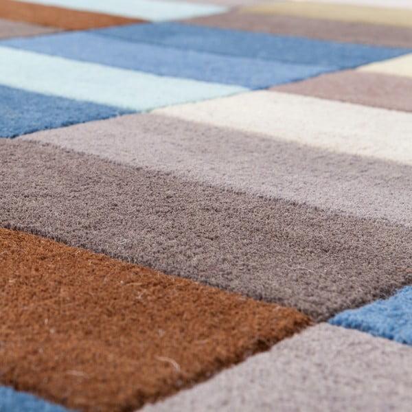 Vlnený koberec Linie Design Romina Blue, 140x200 cm